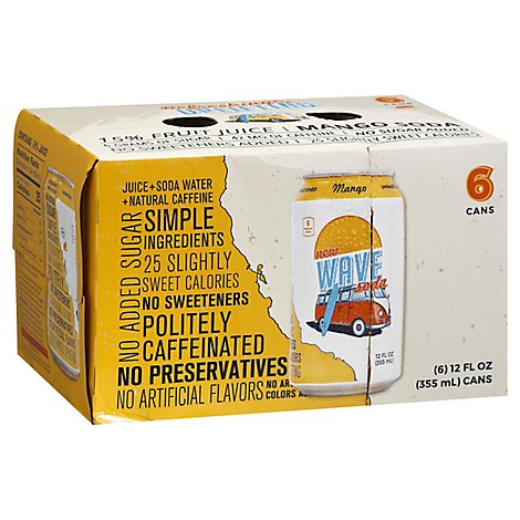 Wave Soda Soda Mango - 6-12 Fl. Oz.