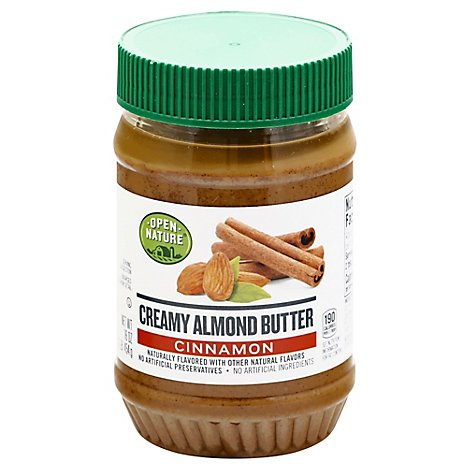 Open Nature Almond Butter Creamy Cinnamon - 16 Oz