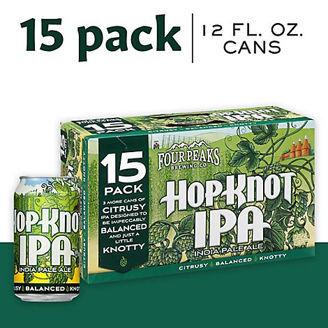 Four Peaks Hop Knot Ipa 15 Pack 12 Fz In Botteles - 15-12 Fl. Oz.