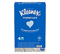 Kleenex Trusted Care Facial Tissue Flat Box - 576 Count