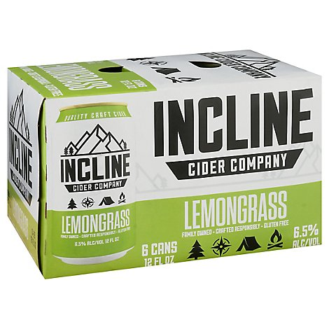 Incline Lemongrass Cider - 6-12 Fl. Oz.