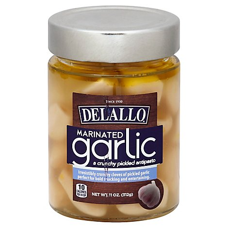Delallo Oil Garlic Whole - 11 Oz