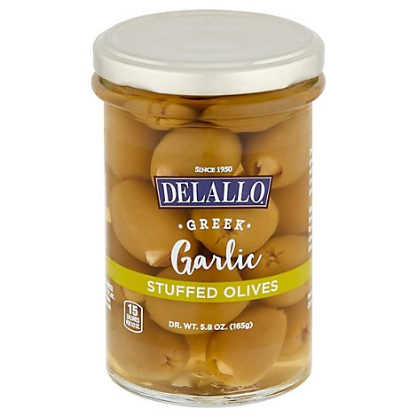 Delallo Olive Garlic Stuffed - 5.8 Oz