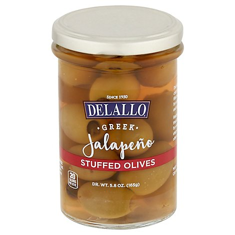 Delallo Olive Jalapeno Stuffed - 5.8 Oz