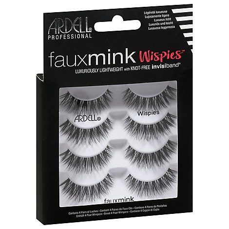 Aii Ard Lashes Fx Mnk Wispies 4pk - Each