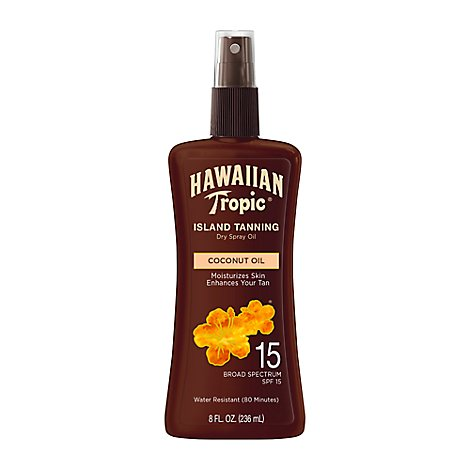 Hawaiian Tropic Protective Dry Oil Sunscreen Spf 15 - 8 Fl. Oz.