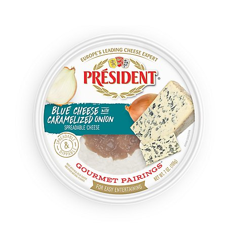 President Blue Cheese Caramelized Onion Spread - 7 Oz