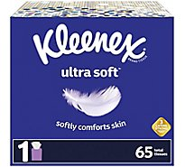 Kleenex Ultra Soft Facial Tissue Cube Box - 65 Count