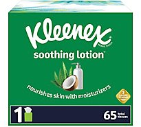 Kleenex Soothing Lotion Tissue 2 Ply Cube Box - 65 Count
