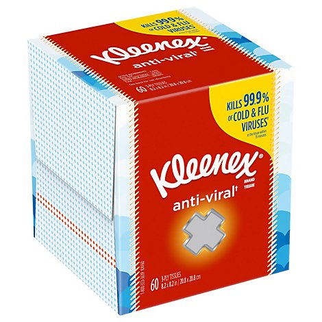Kleenex AntiViral Facial Tissue - 60 Count