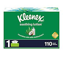 Kleenex Soothing Lotion Facial Tissue Rectangular Box - 110 Count