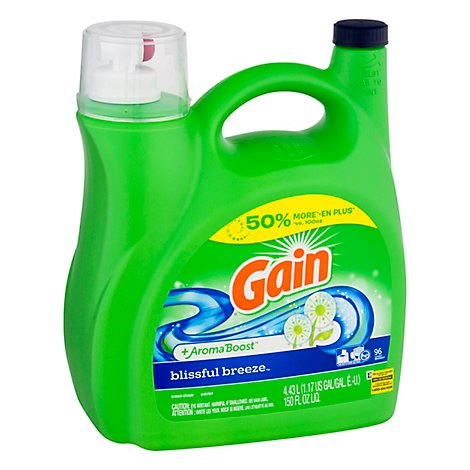 Gain Liquid Detergent Aroma Boost Blissful Breeze 96 Loads - 150 Fl. Oz.