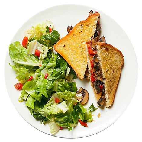 Plated Mushroom Provolone Panini W/Fig Jam & Roasted Red Peppers - 32 Oz