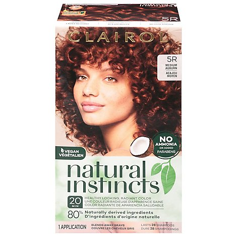Clairol Natural Instincts Cinnaberry Medium Auburn - Each