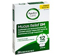 Signature Care Mucus Relief DM 600mg Extended Release Tablet - 20 Count