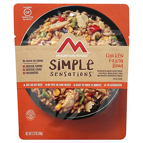Simple Sensations Chicken Fajita Bowl - 2.12 Oz