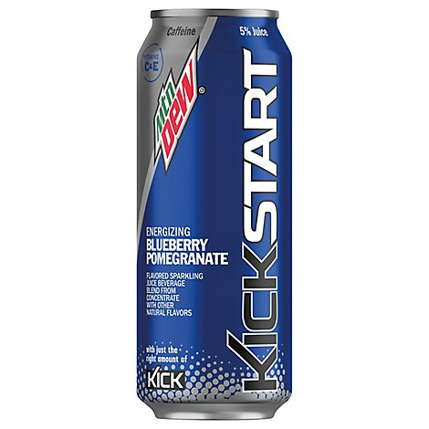 Mountain Dew Kickstart Energy Drink Blueberry Pomegranate - 16 Fl. Oz.