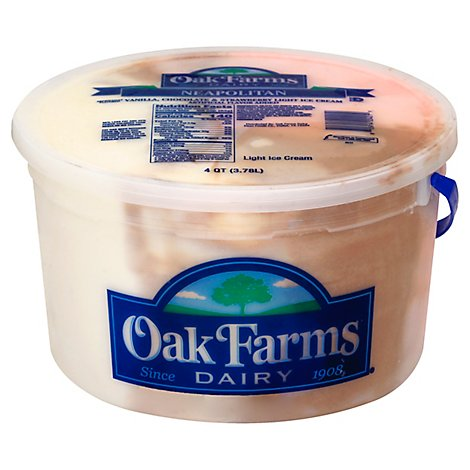 Oak Farms Light Neopolitan Ice Cream - 4 Quart