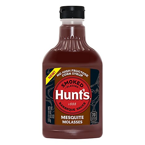 Hunts Smoked Flavors Mesquite Molasses Barbecue Sauce - 18 Oz