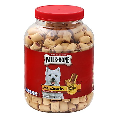 Milk Bone Dog Treat Jar Orig - 40 Oz