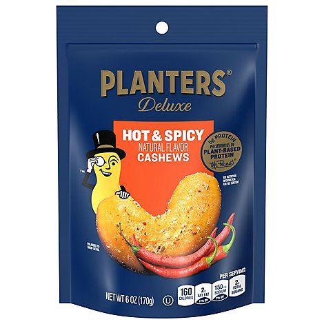 Planters Hot & Spicy Cashews - 6 Oz