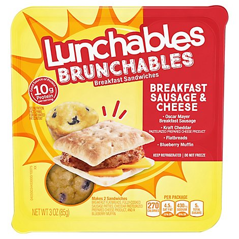 Lunchables Brunchables Beakfast Sausage And Cheese - 3 Oz