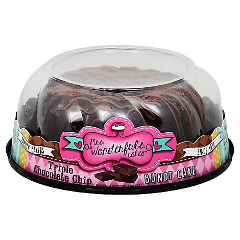 Triple Chocolate Chip Super Prem Bundt Cake - 28 Oz