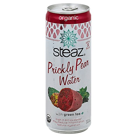 Steaz Water Prkly Pr Grn Tea Org - 12 Fl. Oz.