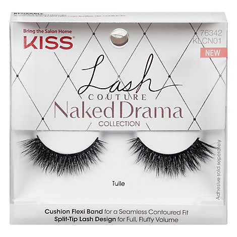 Kiss P Liss Lash Couture N/Drm Tulle - Each
