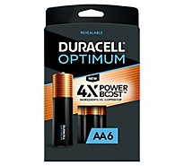 Duracell Optimum AA Alkaline Batteries - 6 count