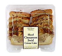 Sliced Cinnamon Swirl Creme Cake - 14 Oz