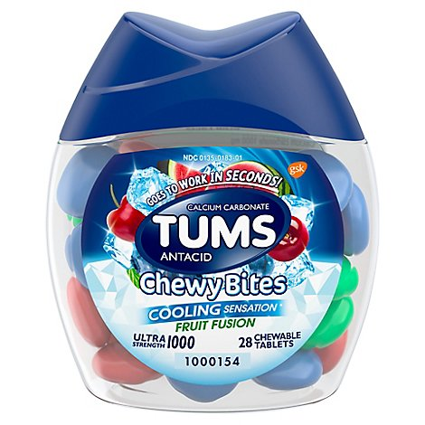 Tums Cooling Fruit Fusion Chewy Bites - 28 Count
