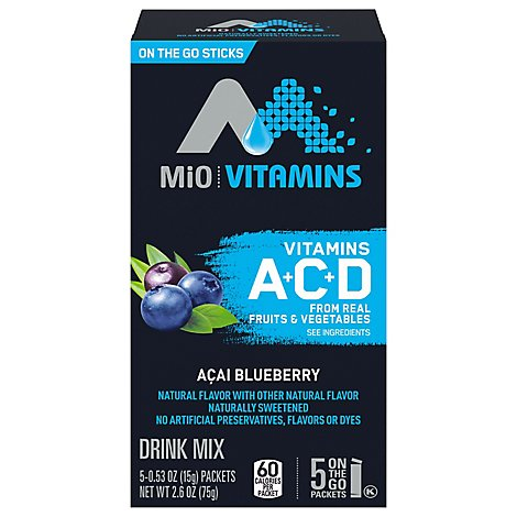 Mio Vitamins Powdered Soft Drink Acai Berry - .53 Oz