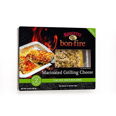 Rougette Bon Fire Marinated Grilling Cheese With Herbs - 6.4 Oz