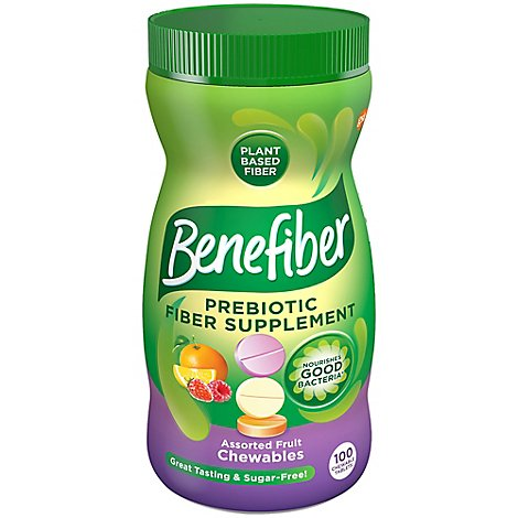 Benefiber Assorted Fruit Chewables - 100 Count