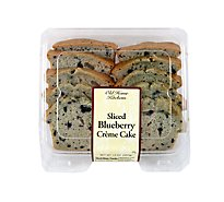 Sliced Blueberry Creme Cake - 14 Oz