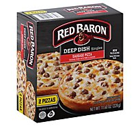 Red Baron Pizza Deep Dish Singles Sausage Frozen - 11.6 Oz