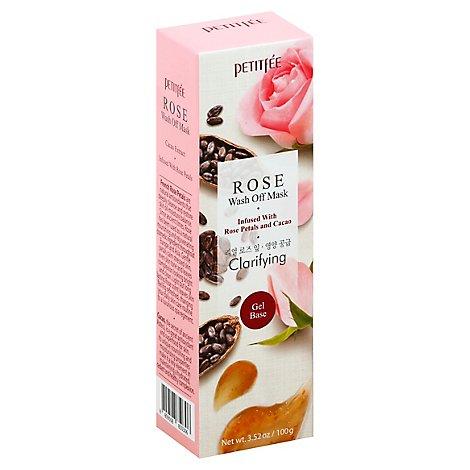Petitfee Rose Water Wash Off Face Mask - 3.52 Fl. Oz.