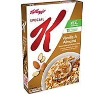 Kelloggs Special K Breakfast Cereal Vanilla and Almond Low Fat Box - 12.9oz