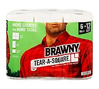 Brawny Paper Towels XL Tear A Square White - 6 Roll