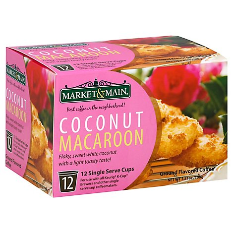 Market An Coffee Ccnt Macroon Sgl S - 12 Count