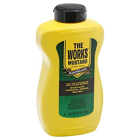 Plochmans Mustard The Works - 15 Oz