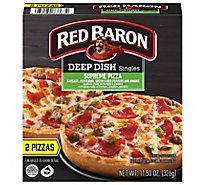Red Baron Pizza Deep Dish Singles Supreme 2 Count - 11.5 Oz