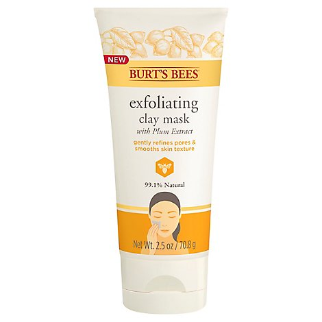 Burts Exfoliating Clay Mask - 2.5 Oz