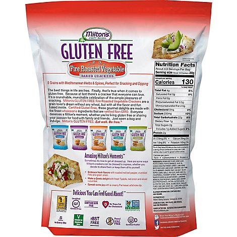 Miltons Cracker Gf Fire Rstd Veg - 4.5 Oz