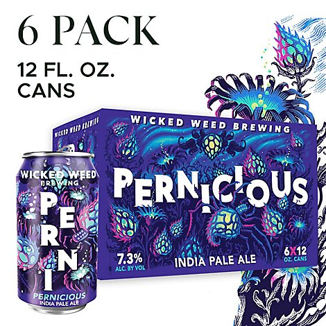 Wicked Weed Pernicious Ipa In Cans - 6-12 Fl. Oz.