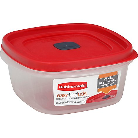 Rubbermaid Easy Find Lid Vented Container 5 Cup - Each