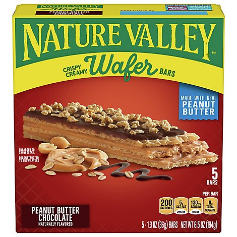 Nv Crispy Creamy Wafer Bar Pb Choc 5ct - 6.5 Oz