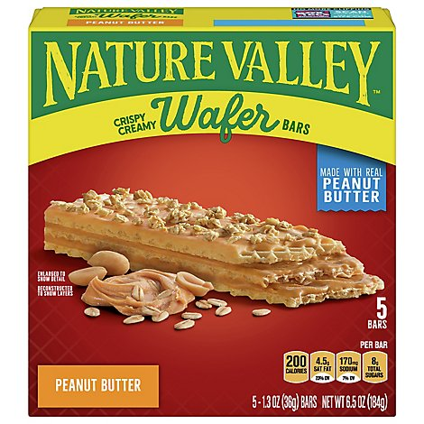 Nv Crispy Creamy Wafer Bar Pb 5ct - 6.5 Oz