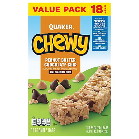 Quaker Chewy Peanut Butter Chocolate Chip Granola Bar - 15.2 Oz